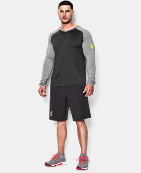 Men's UA Combine® Training Blur Long Sleeve T-Shirt