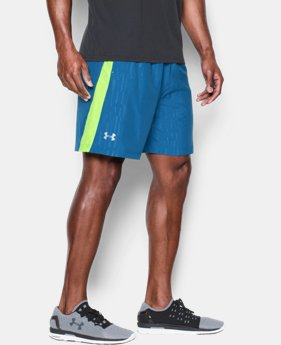 "Men's UA Launch Run 7"" Printed Shorts  1 Color $22.49"