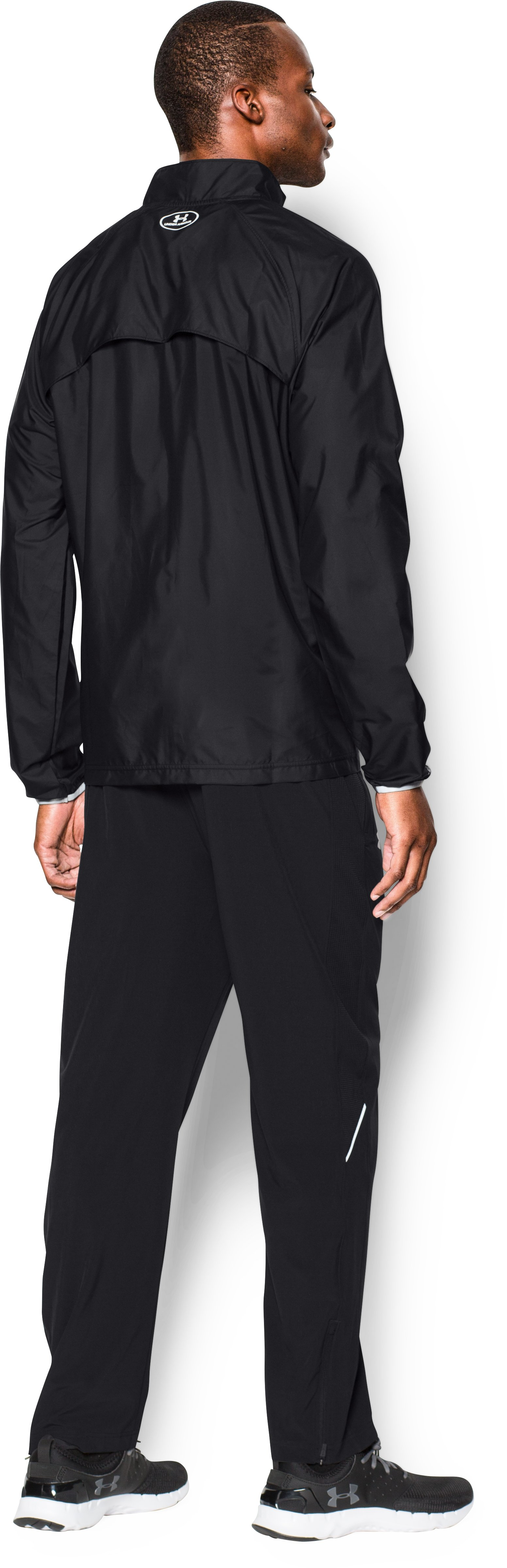 Men's UA Storm Launch Run Jacket, Black , Back
