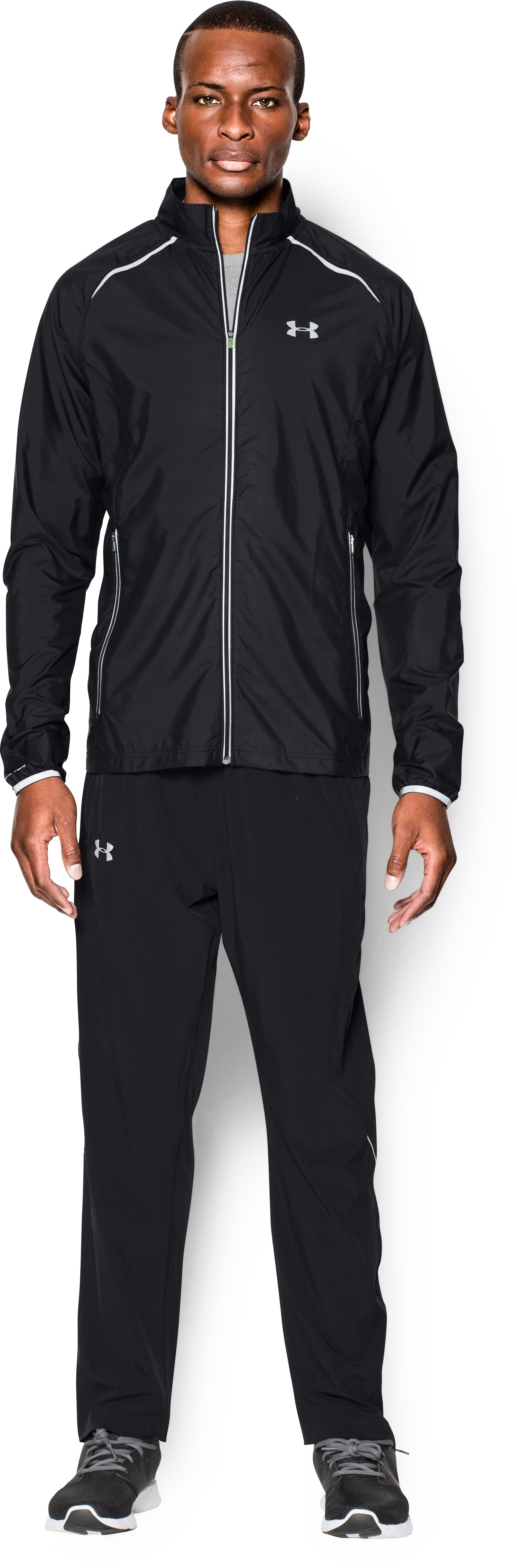 Men's UA Storm Launch Run Jacket, Black , Front