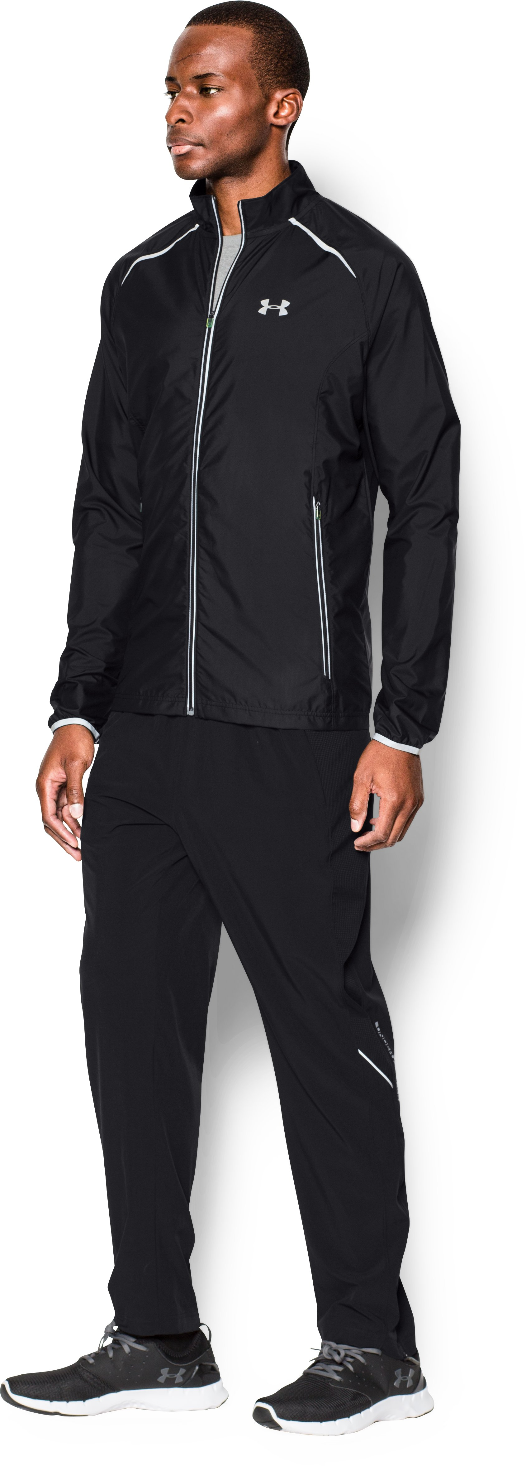 Men's UA Storm Launch Run Jacket, Black , undefined