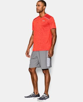 Men's UA HeatGear® ArmourVent™ Run V-Neck Short Sleeve T-Shirt
