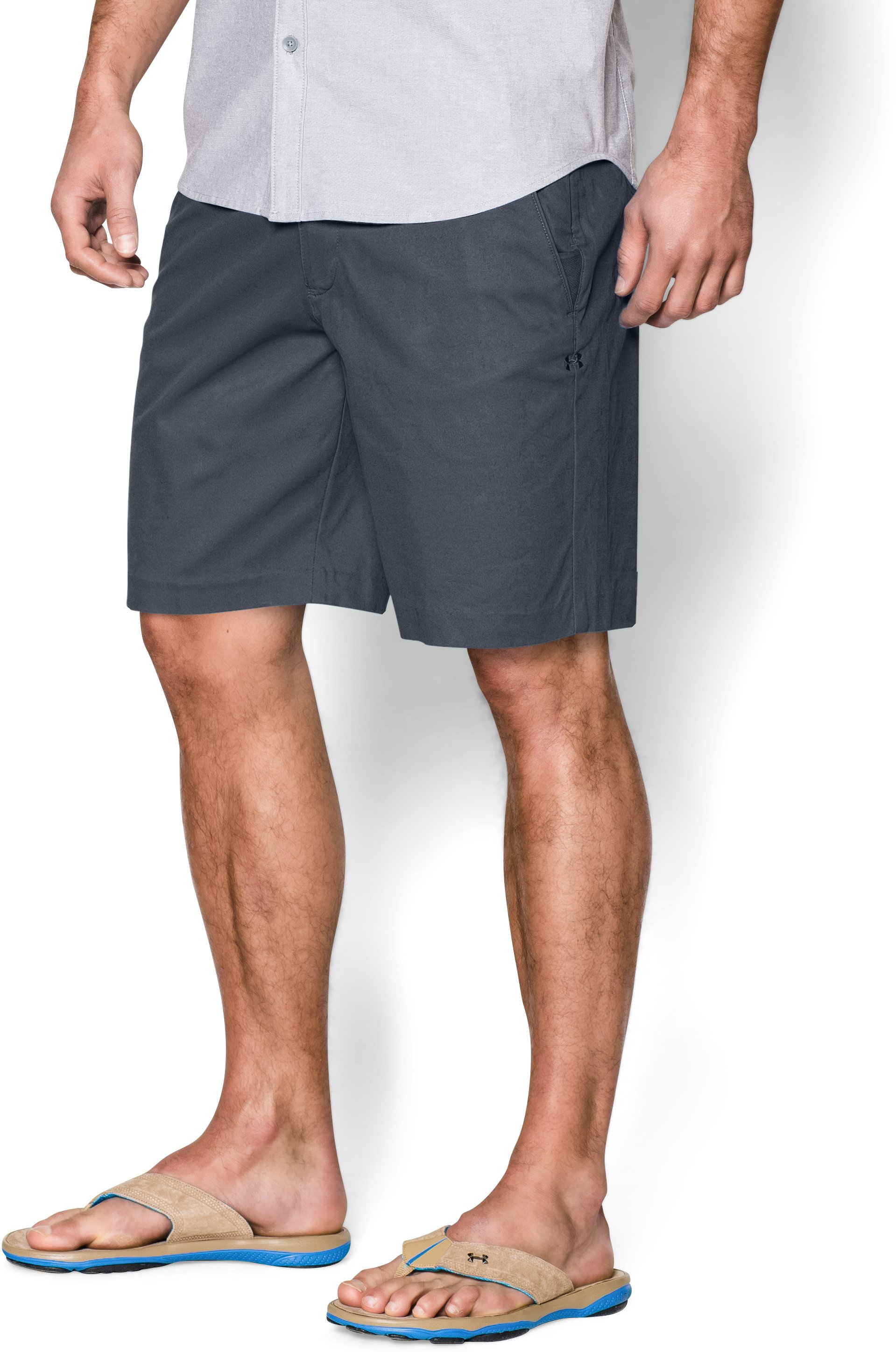 Men's UA Performance Chino Shorts, STEALTH GRAY