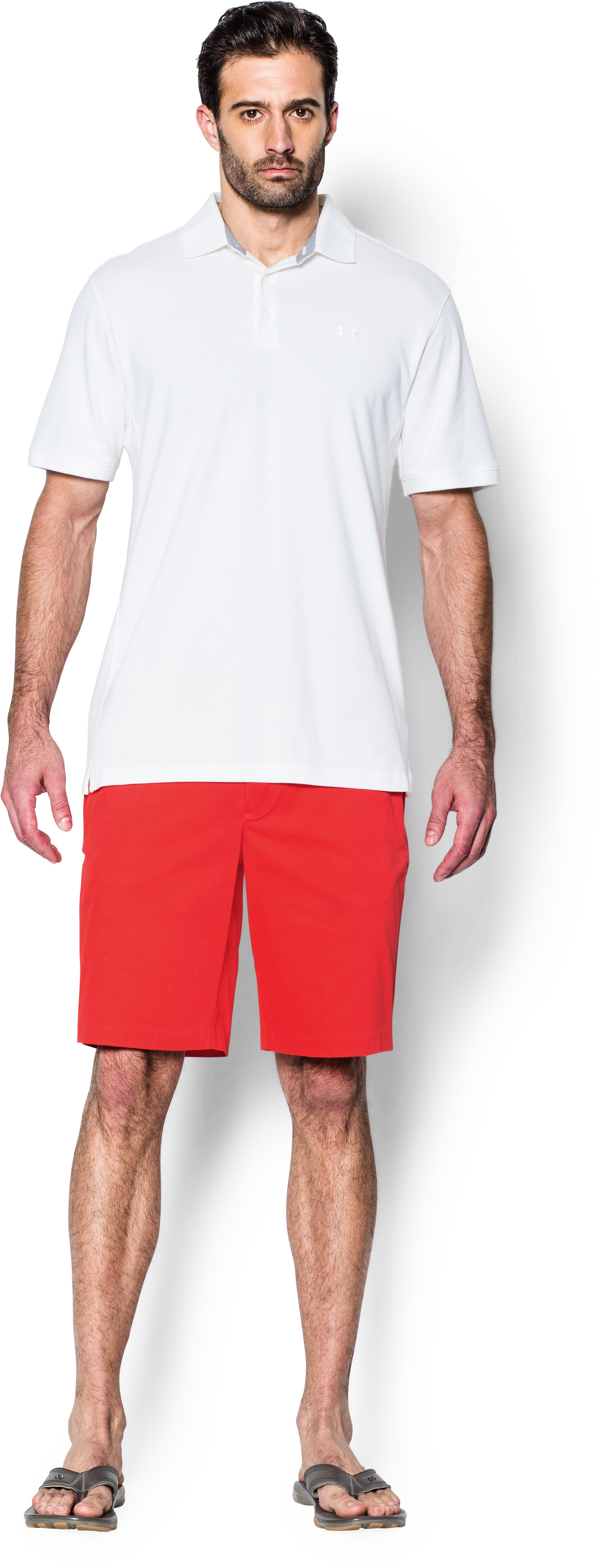 Men's UA Performance Chino Shorts, ROCKET RED, Front