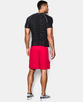 Men's UA HeatGear® ArmourVent™ Short Sleeve Compression Shirt  3 Colors $20.24