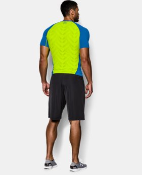 Men's UA HeatGear® ArmourVent™ Short Sleeve Compression Shirt EXTRA 25% OFF ALREADY INCLUDED 3 Colors $20.24