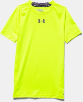 Boys' UA HeatGear® Armour Short Sleeve Fitted Shirt