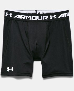 Boys' UA HeatGear® Armour Fitted Shorts – Mid