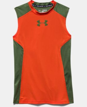 Boys' UA HeatGear® Armour Up Sleeveless Fitted Shirt