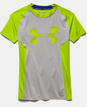 Boys' UA HeatGear® Armour Up Short Sleeve Fitted Shirt