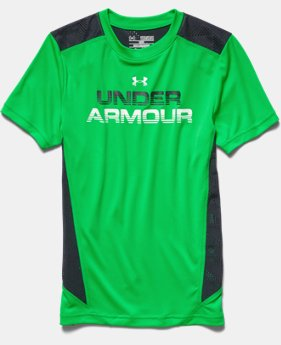 Boys' UA HeatGear ArmourVent™ Short Sleeve T-Shirt