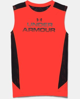 Boys' UA HeatGear ArmourVent™ Sleeveless T-Shirt