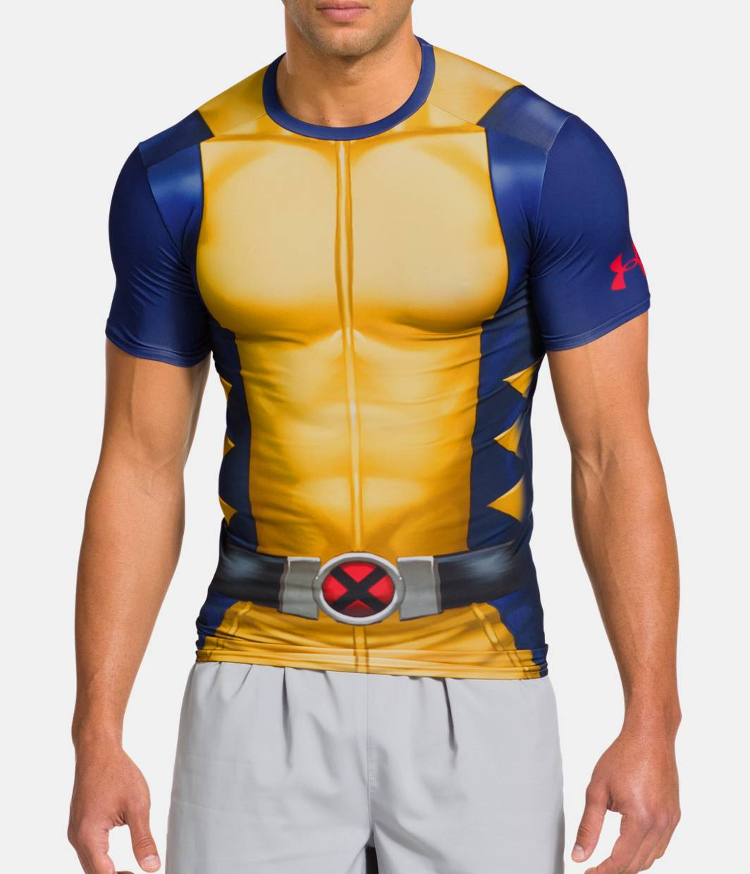 Men s under armour alter ego x men compression short for Under armour lifting shirts