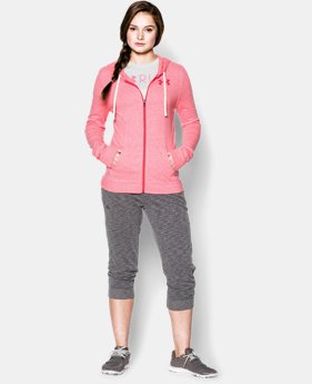 Women's UA Charged Cotton® Tri-Blend Full Zip Hoodie  1 Color $37.99