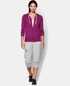 Women's UA Charged Cotton® Tri-Blend Full Zip Hoodie LIMITED TIME: FREE U.S. SHIPPING 1 Color $36.99