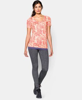 Women's UA Long & Lean Printed V-Neck
