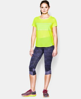 Women's UA Fly Fast Mesh Short Sleeve   1 Color $23.99