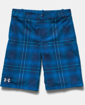 Boys' UA Utility Club Plaid Golf Shorts