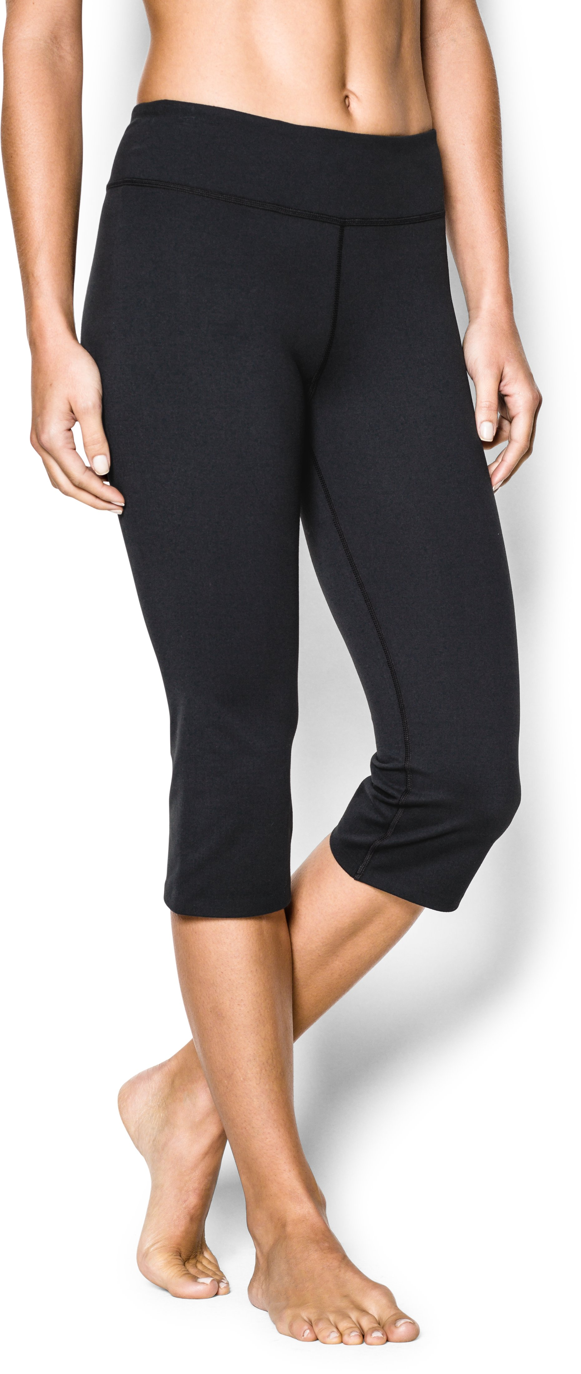 Women's UA Studio City Hopper Capri, Black , undefined