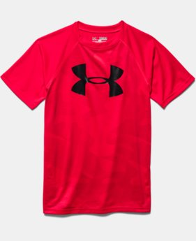 Boys' UA Tech™ Big Logo Printed Short Sleeve T-Shirt