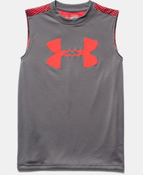 Boys' UA Tech™ Big Logo Patterned Sleeveless T-Shirt