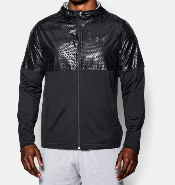 Men's UA Embossed Lightweight Warm-Up Jacket | Under Armour CA