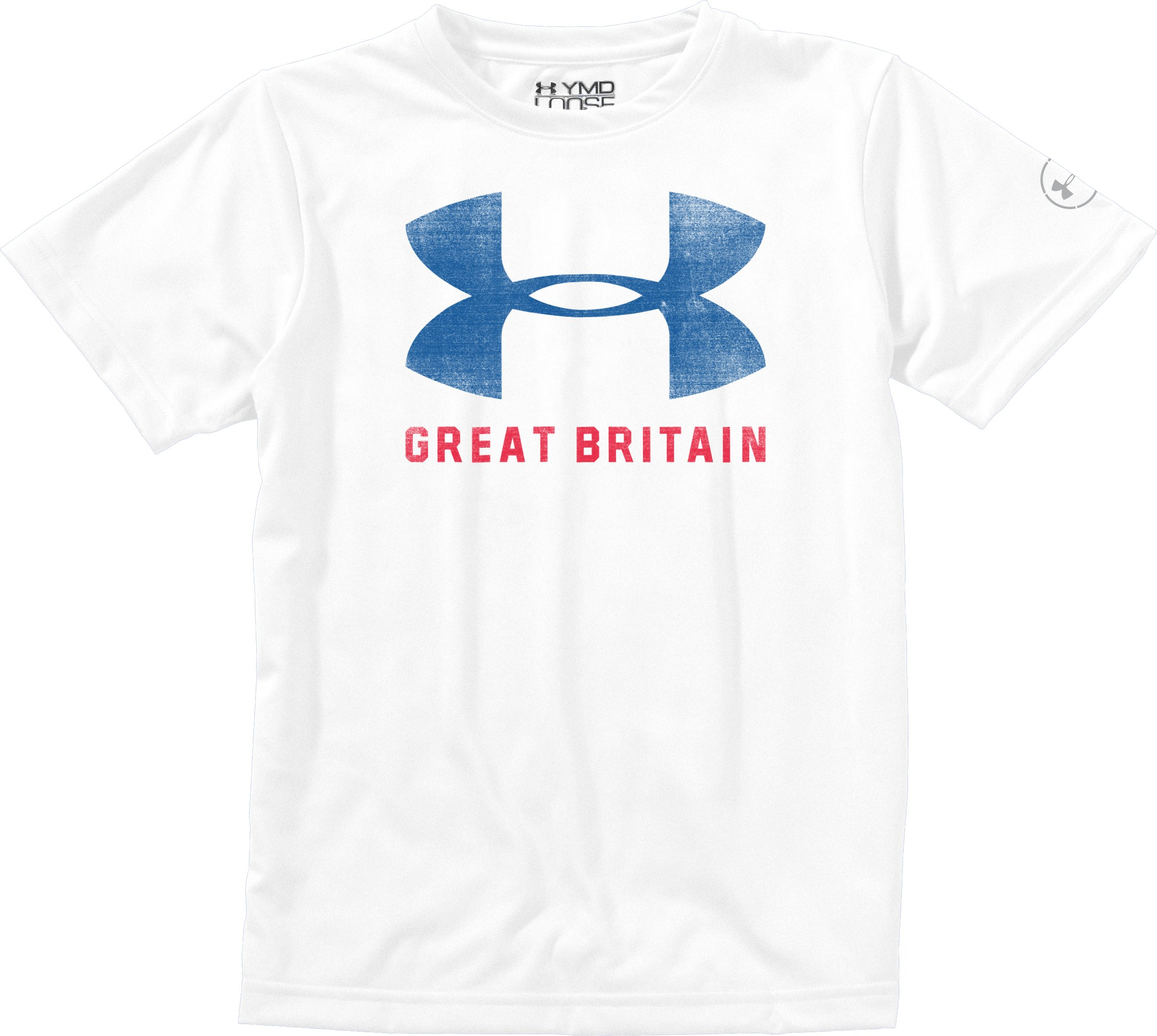 Boys' Great Britain Pride T-Shirt, White, Laydown