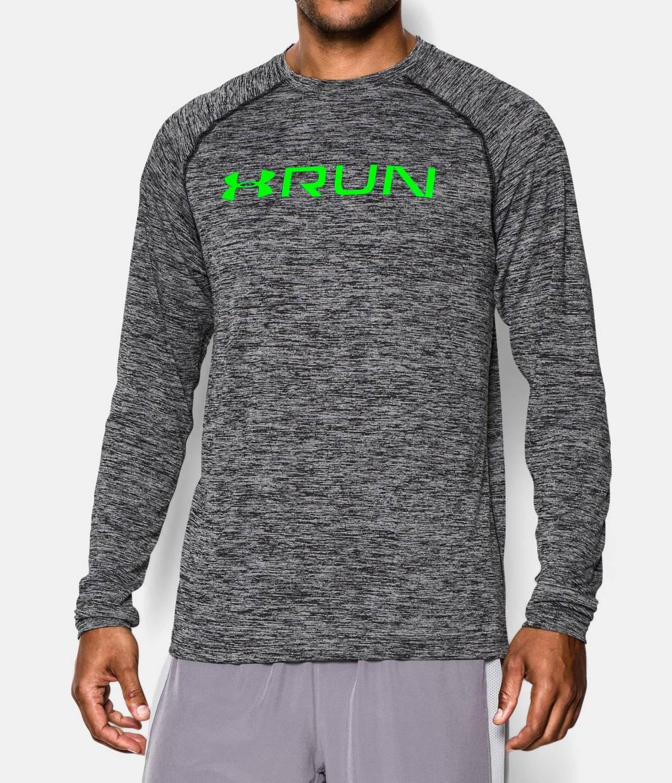 Men s ua tech run long sleeve t shirt under armour us for Long sleeve technical running shirt