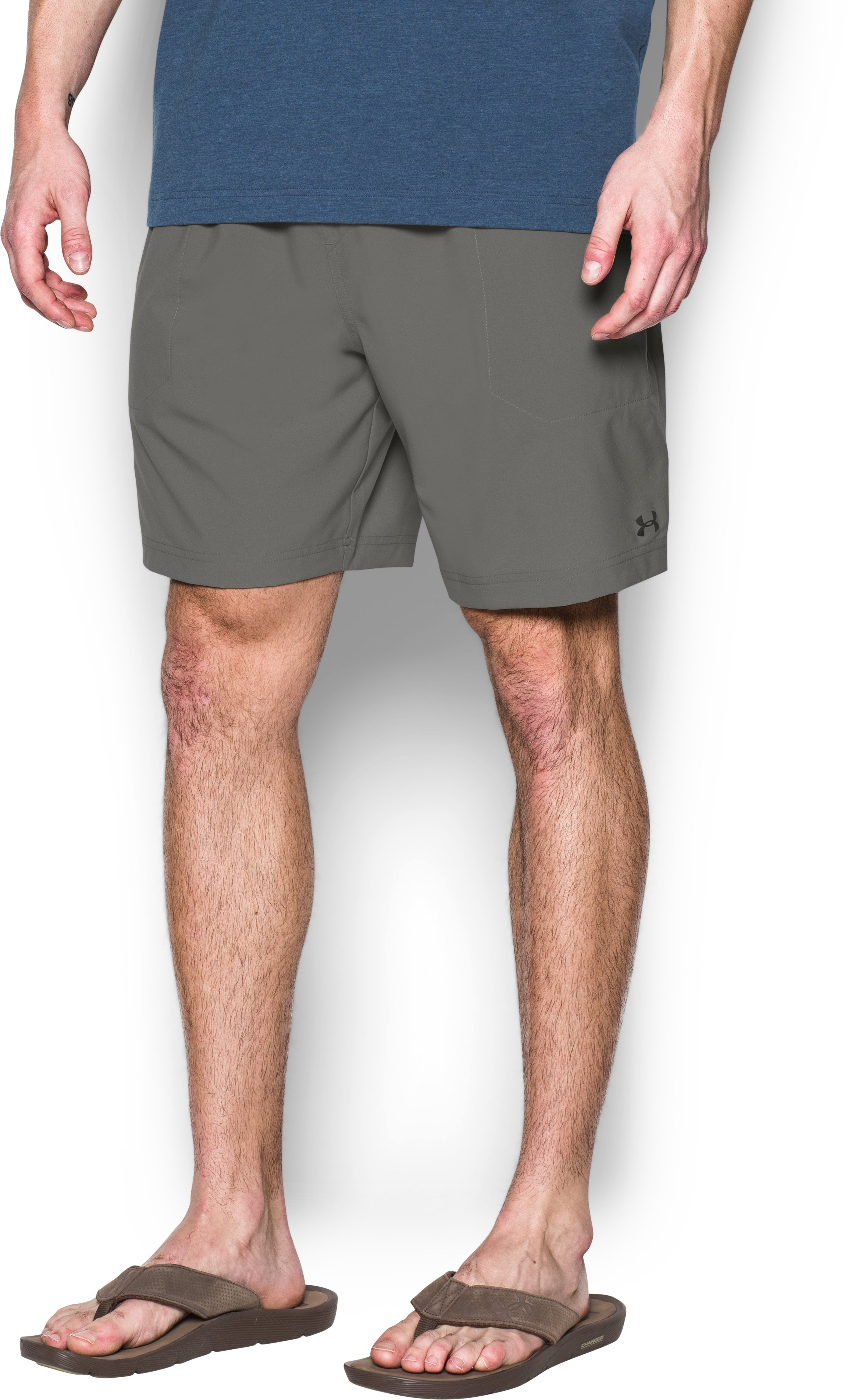 Men's UA Coastal Amphibious Board Shorts, TAN STONE