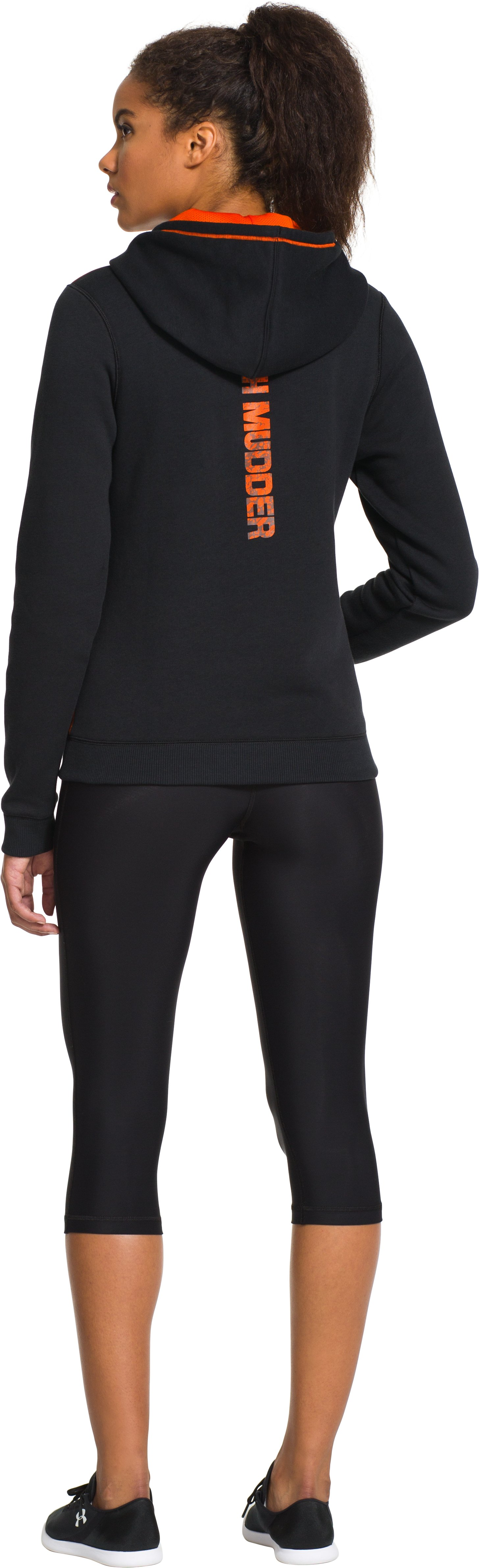 Women's Tough Mudder Essential Cotton Hoodie, Black , Back