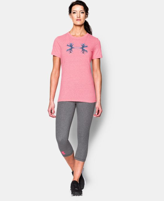 New Arrival  Women's UA Antler Logo Tri-Blend T-Shirt  1 Color $34.99