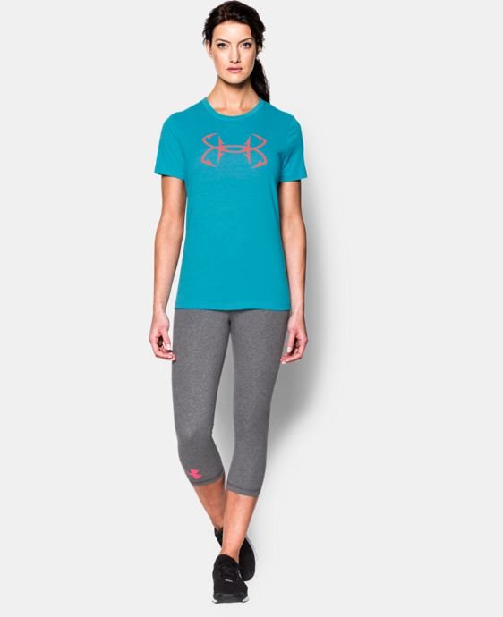 New Arrival  Women's UA Charged Cotton® Tri-Blend Hook T-Shirt LIMITED TIME: FREE SHIPPING 1 Color $26.99