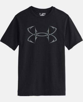 Boys' UA 3D Hook Logo T-Shirt