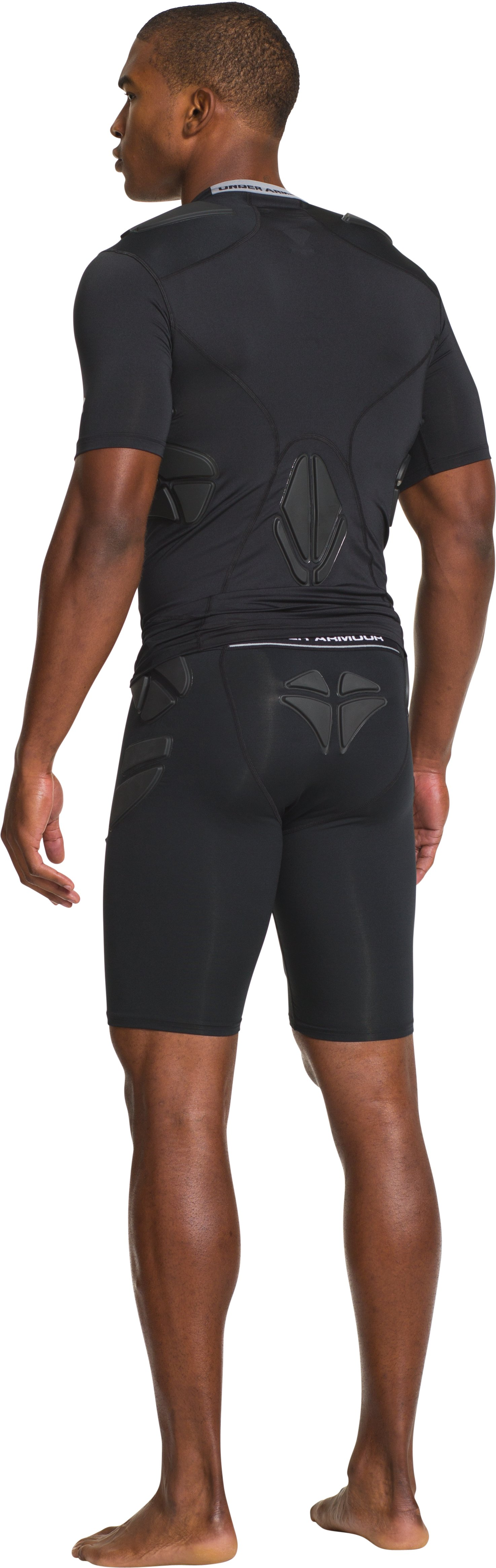 Men's Under Armour® Alter Ego Padded Football Compression Shirt, Black , Back