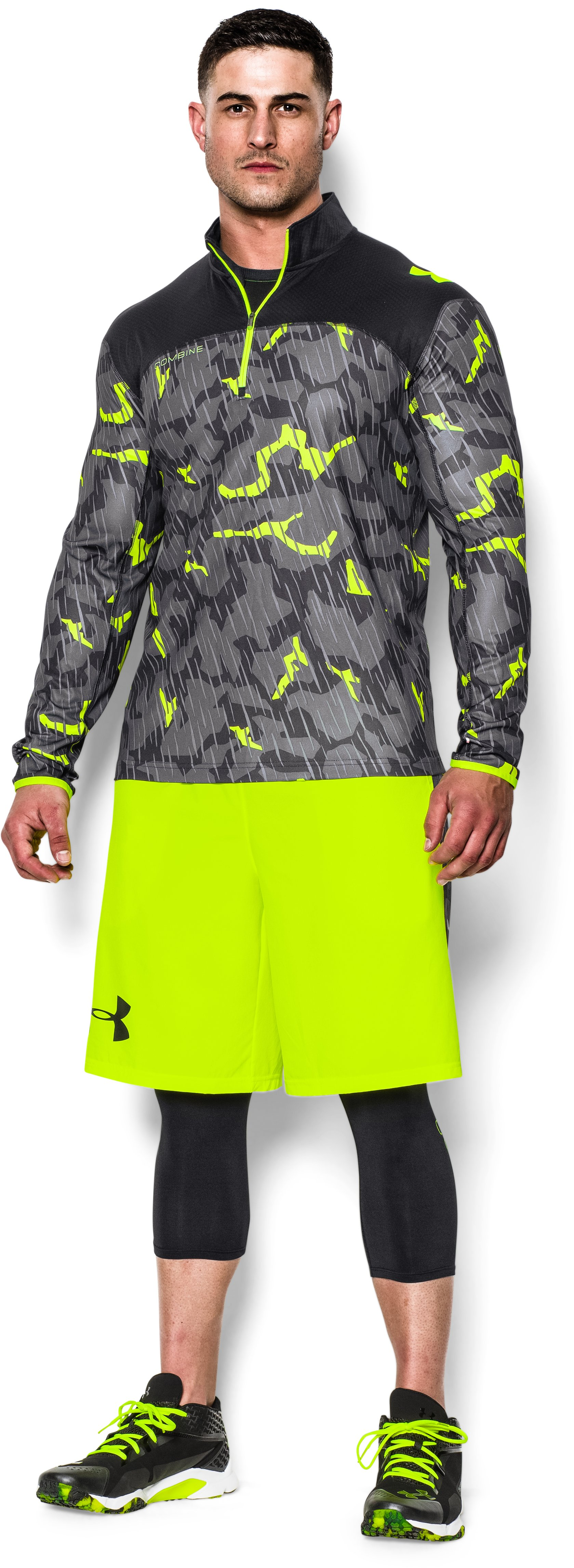 Men's UA Combine® Training Acceleration ¼ Zip, Black , zoomed image