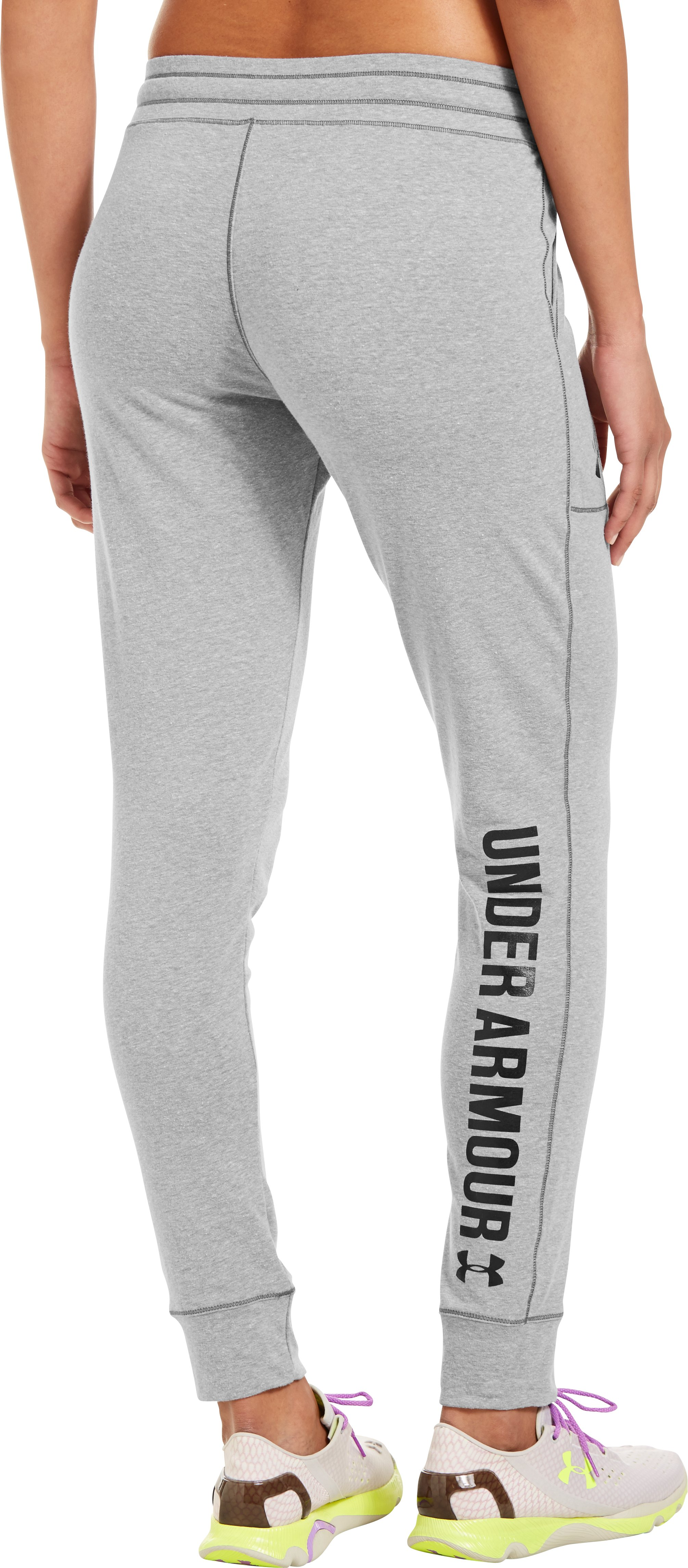 Women's UA Pretty Gritty Slouchy Pant, True Gray Heather