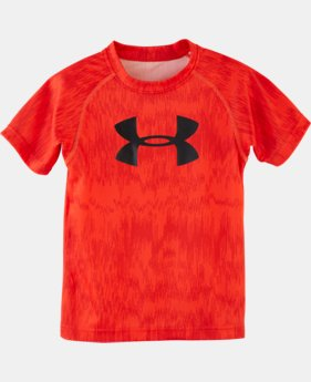 Boys' Pre-School UA Big Logo Shock Print T-Shirt