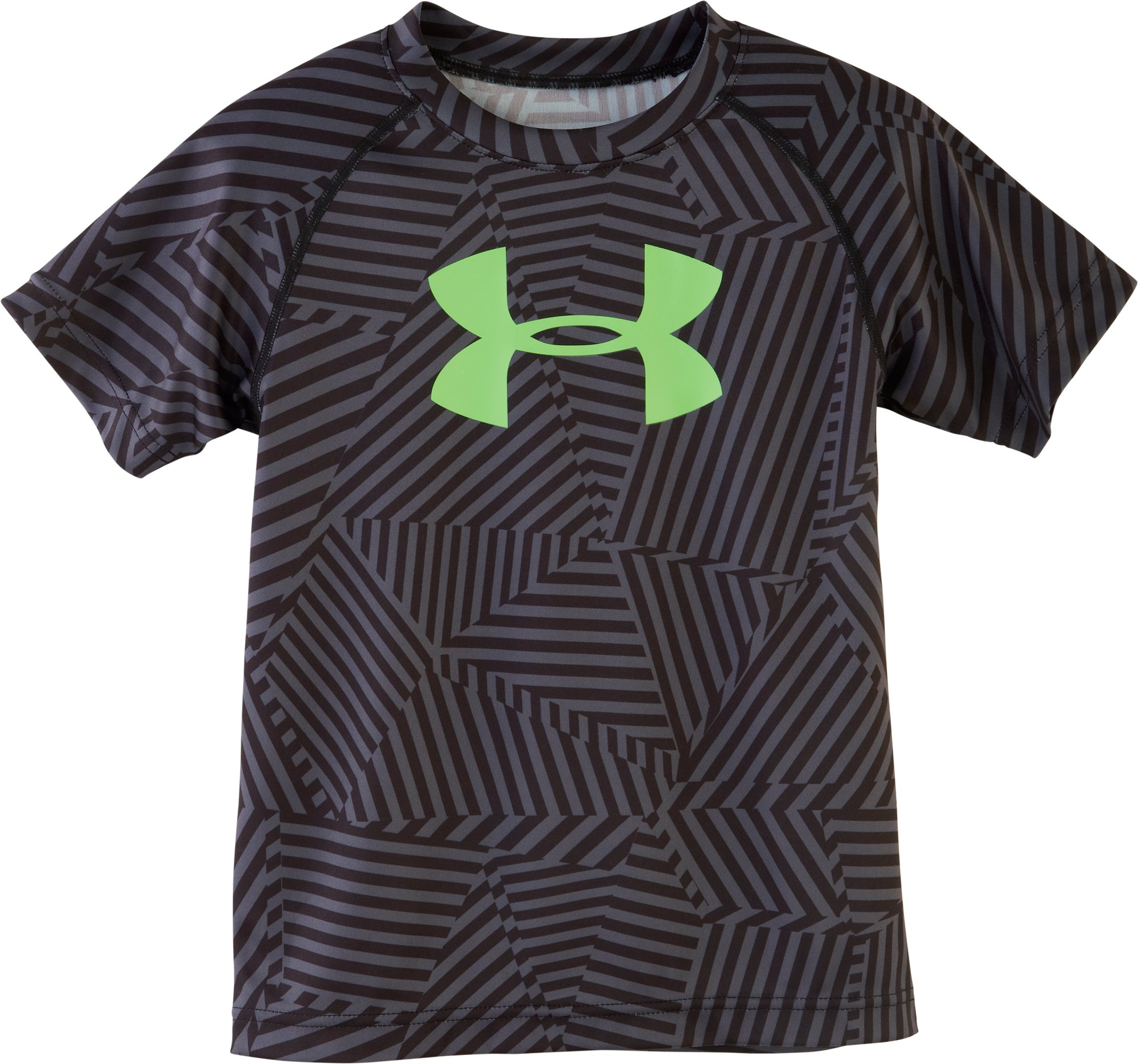Boys' Pre-School UA Big Logo Favella Print T-Shirt, Black , Laydown
