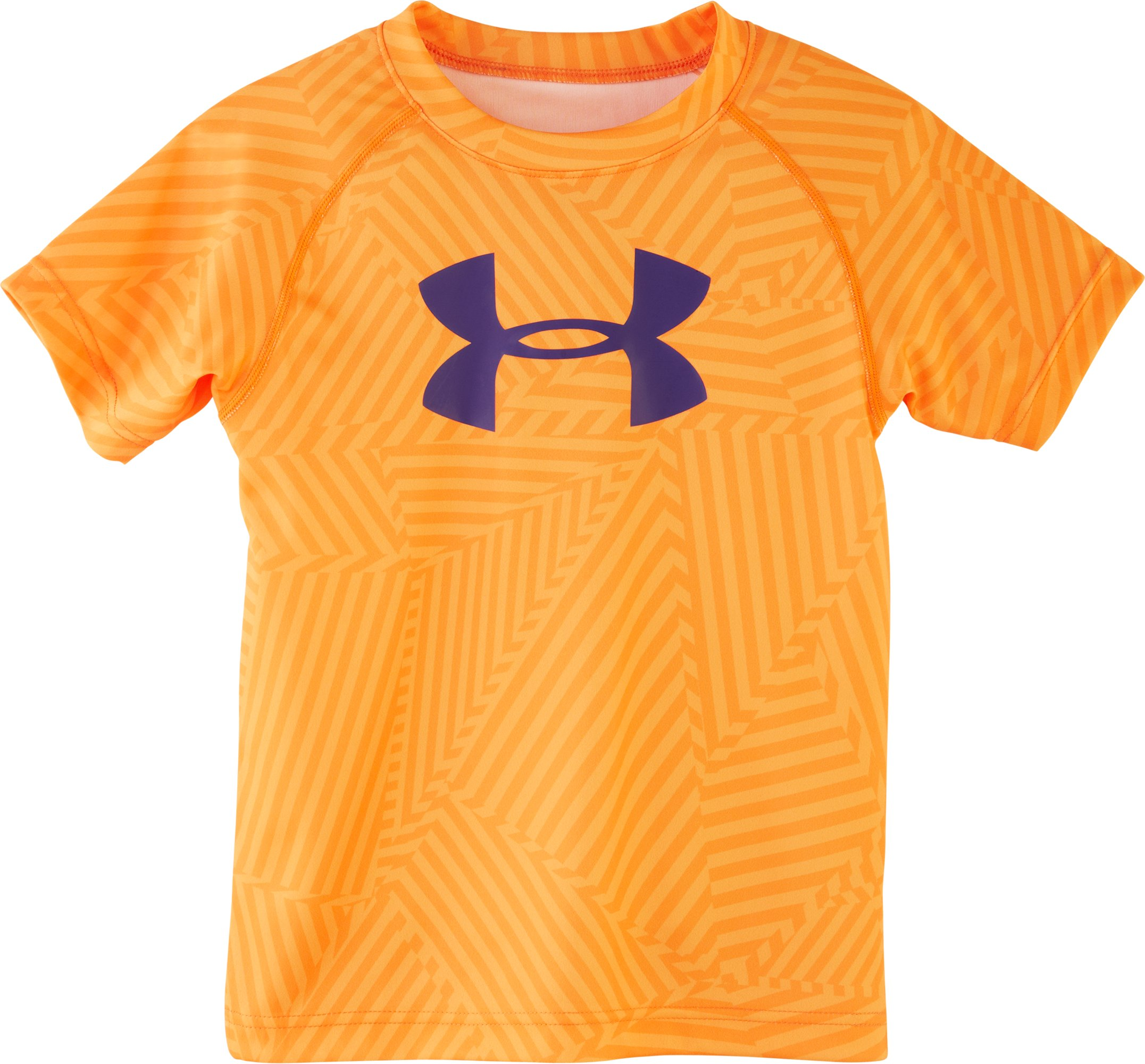 Boys' Pre-School UA Big Logo Favella Print T-Shirt, Blaze Orange, Laydown