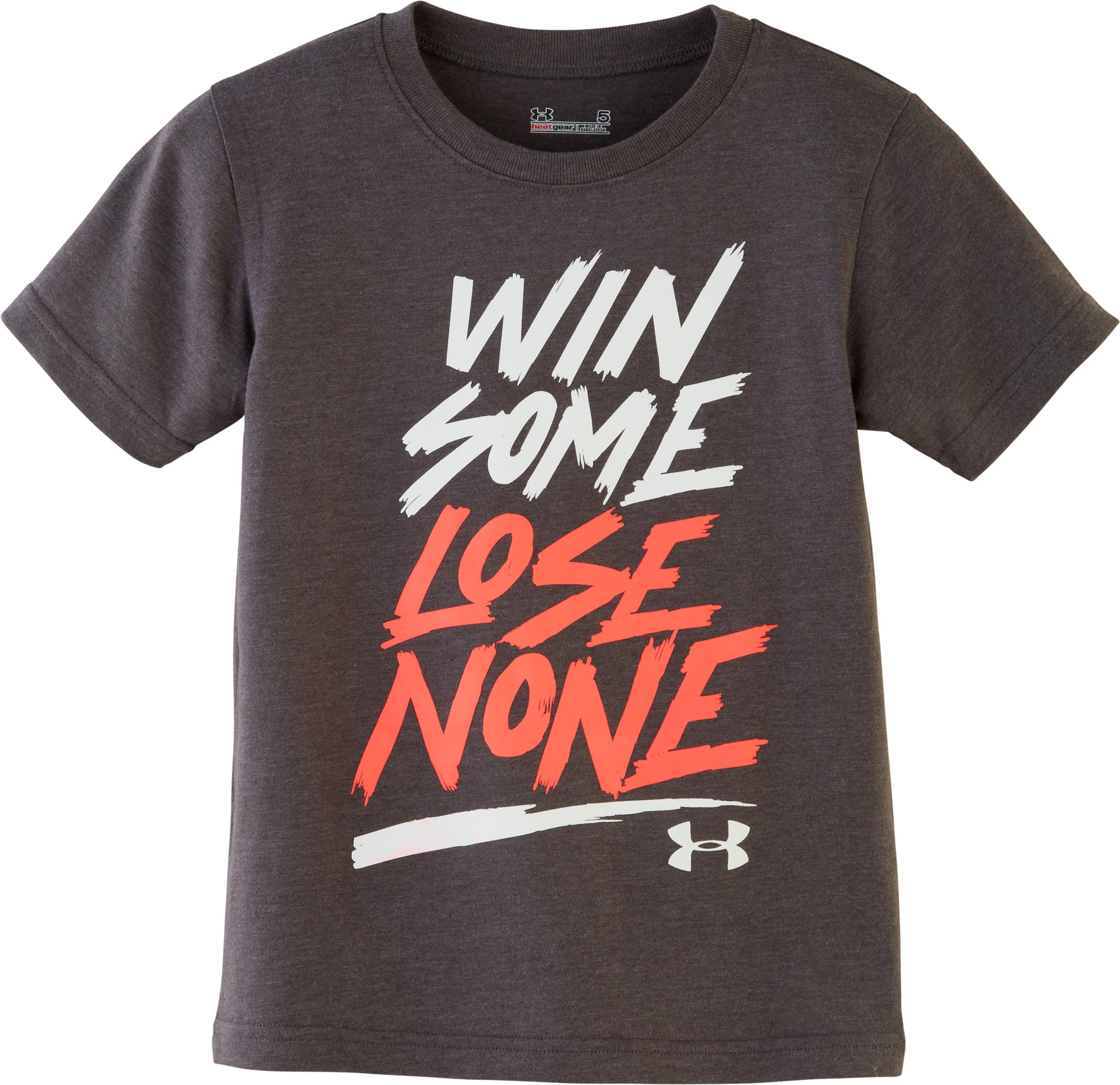 Boys' Pre-School UA Lose None T-Shirt, Carbon Heather, Laydown