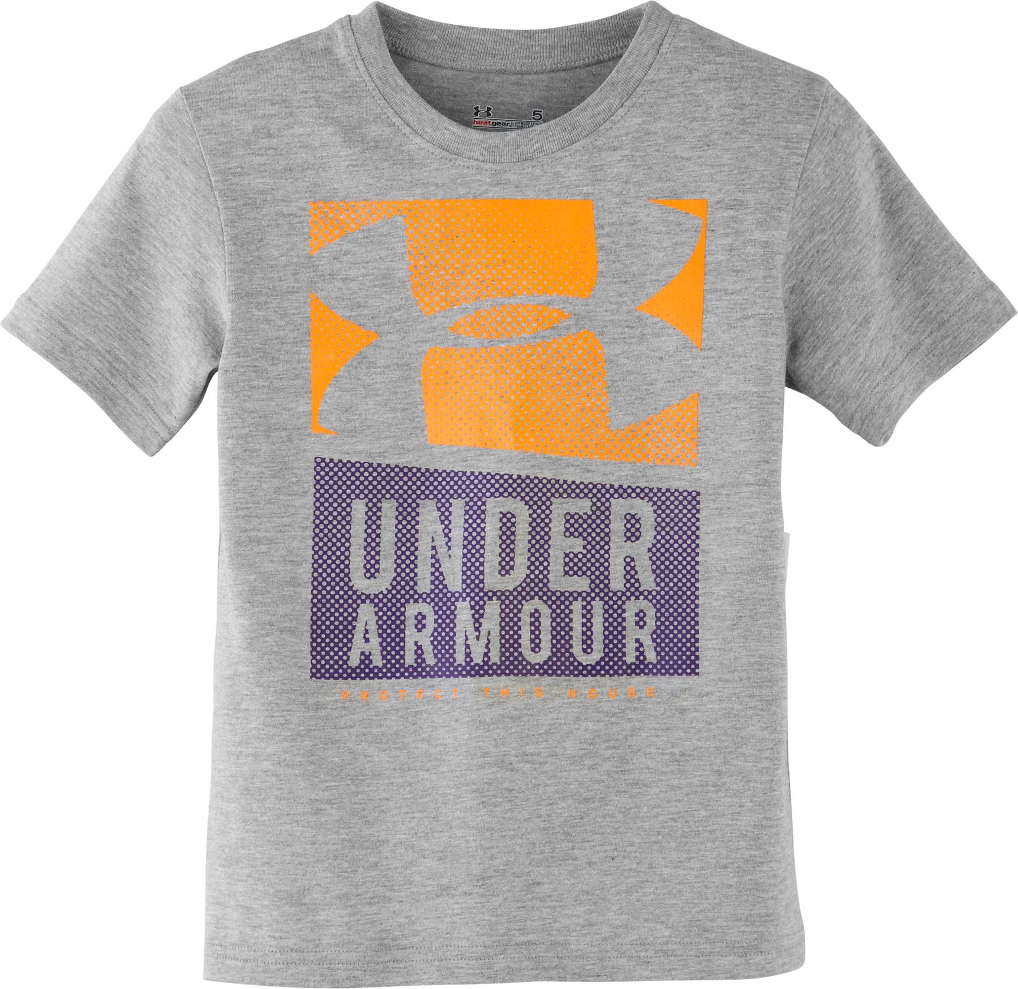 Boys' Pre-School UA Motion T-Shirt, True Gray Heather, Laydown