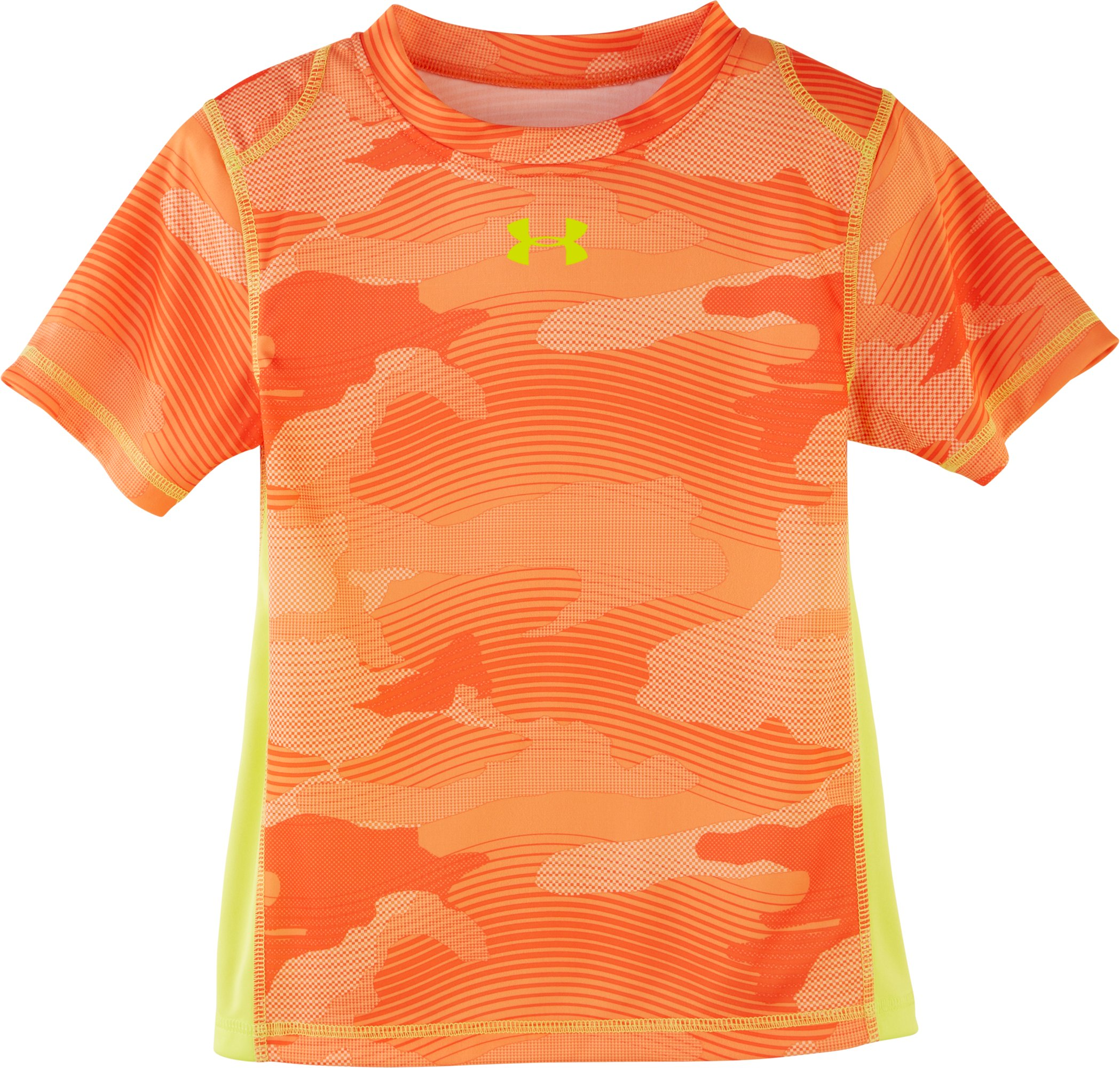 Boys' Pre-School UA Fish Camo T-Shirt, GOLDFISH, Laydown