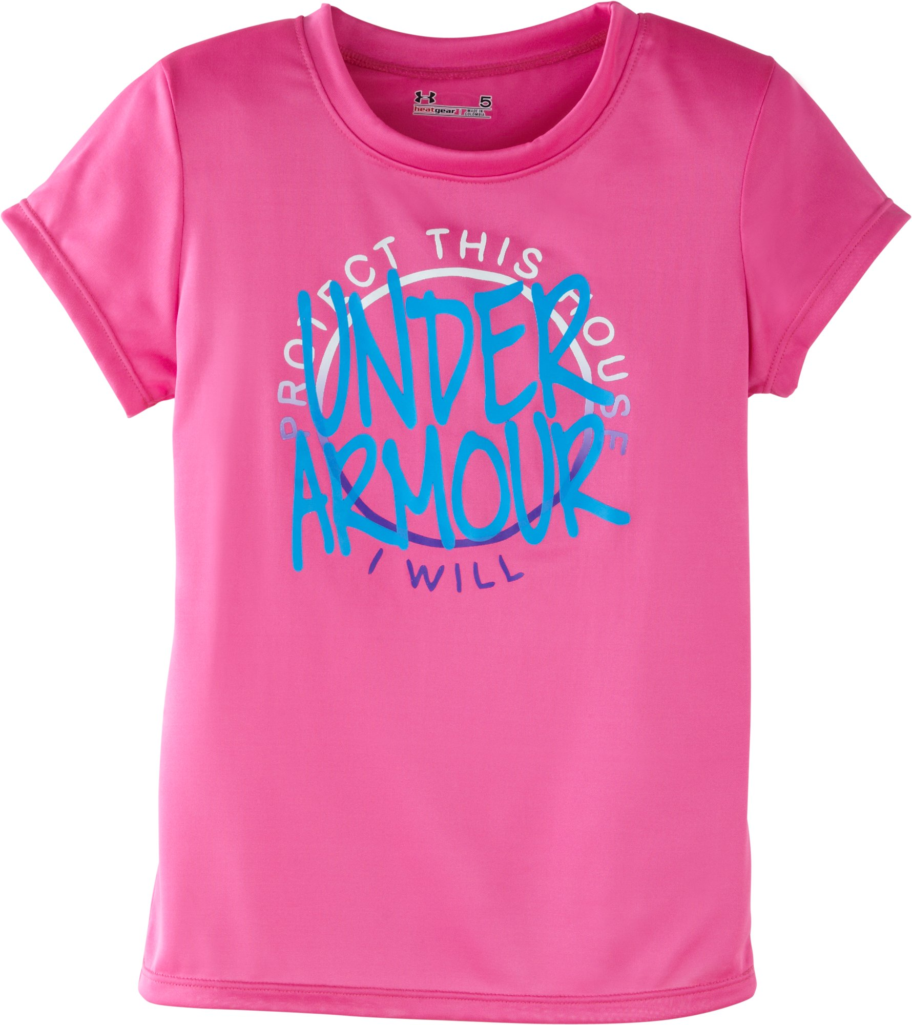 Girls' Pre-School UA PTH T-Shirt, CHAOS, Laydown