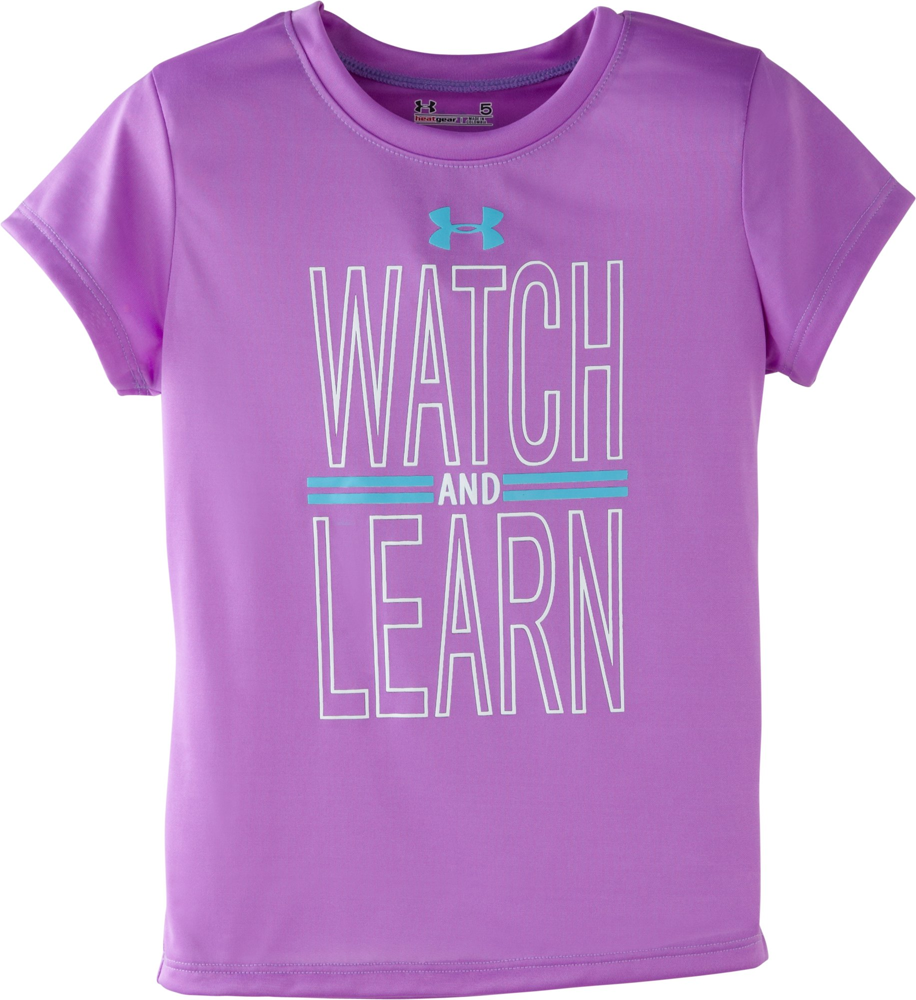 Girls' Toddler UA Watch And Learn T-Shirt, EXOTIC BLOOM, Laydown