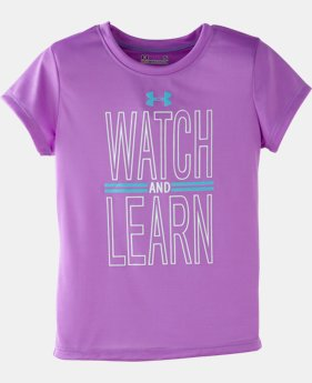 Girls' Toddler UA Watch And Learn T-Shirt