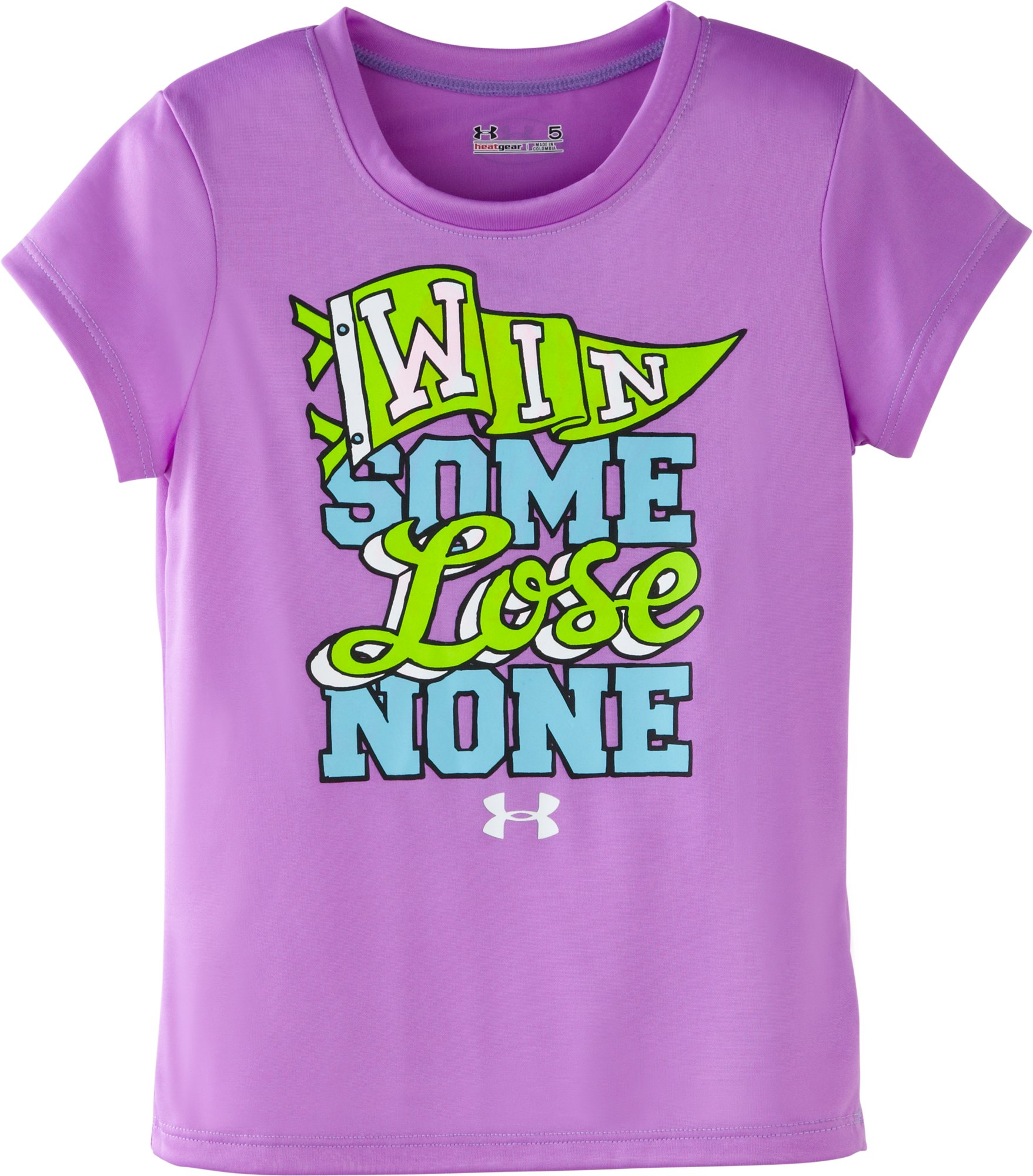Girls' Toddler UA Win Some Lose None T-Shirt, EXOTIC BLOOM, Laydown