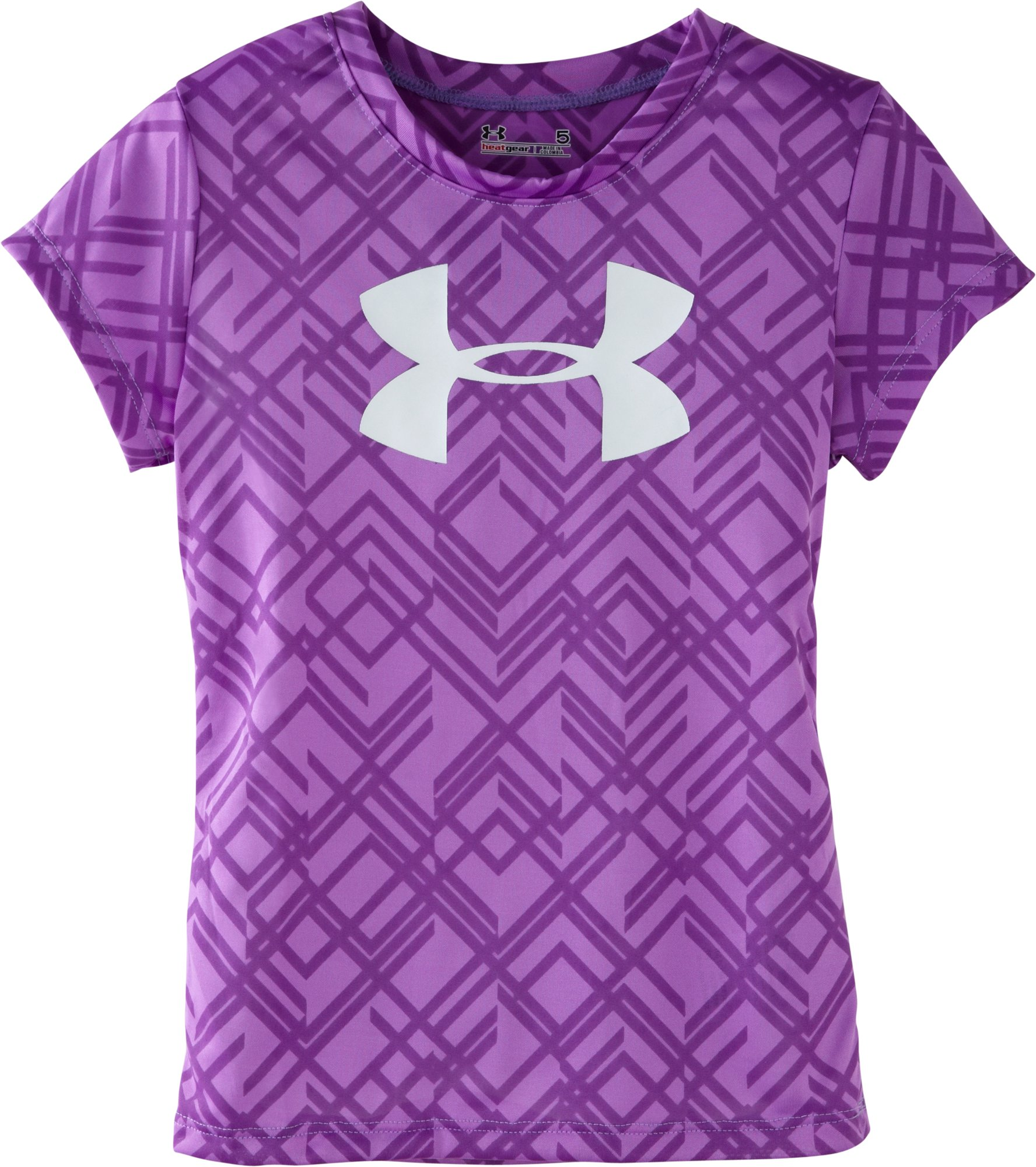 Girls' Infant UA Big Logo Favella Lace T-Shirt, EXOTIC BLOOM, Laydown