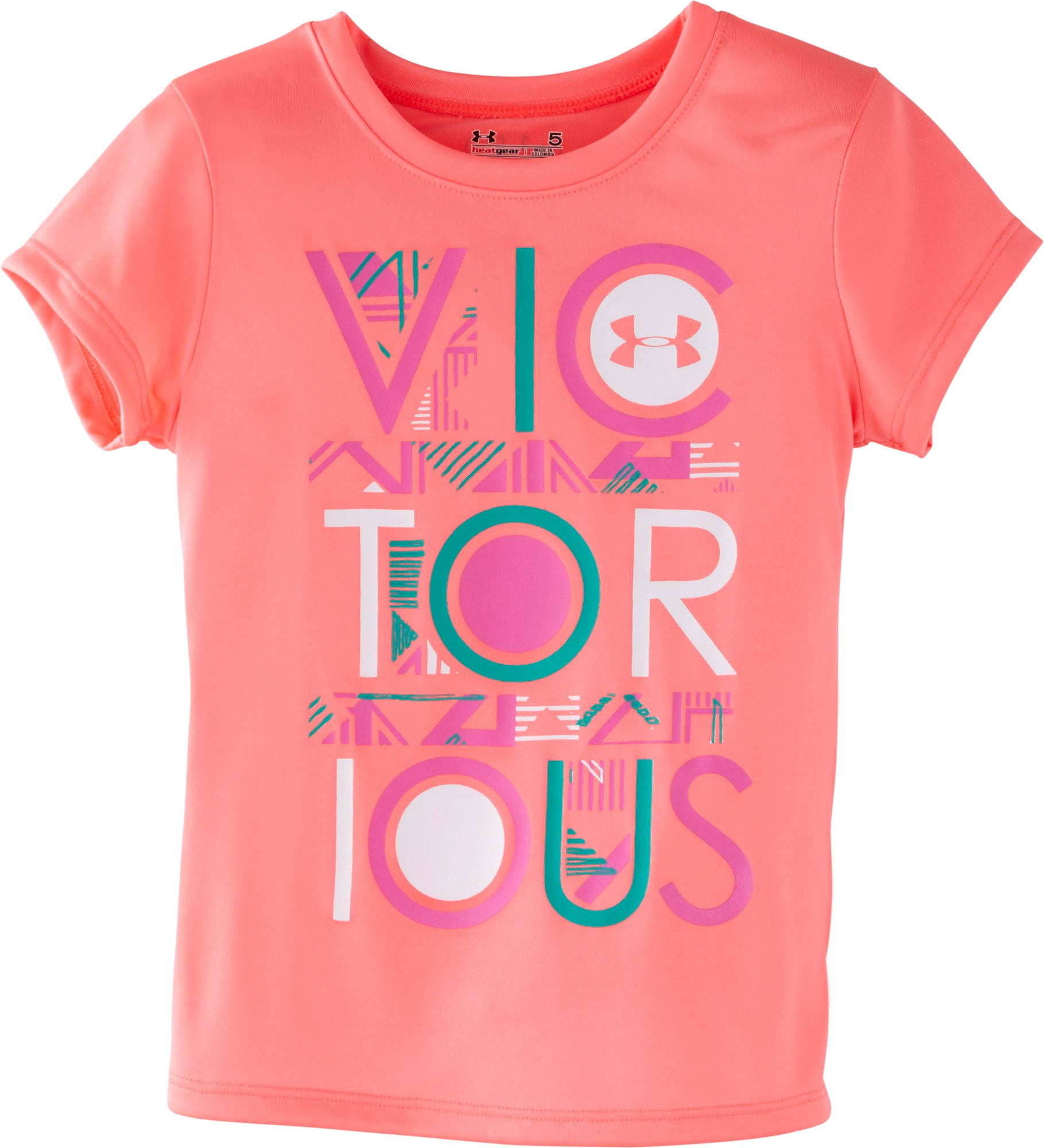 Girls' Infant UA Victorious Tribal T-Shirt, BRILLIANCE, Laydown