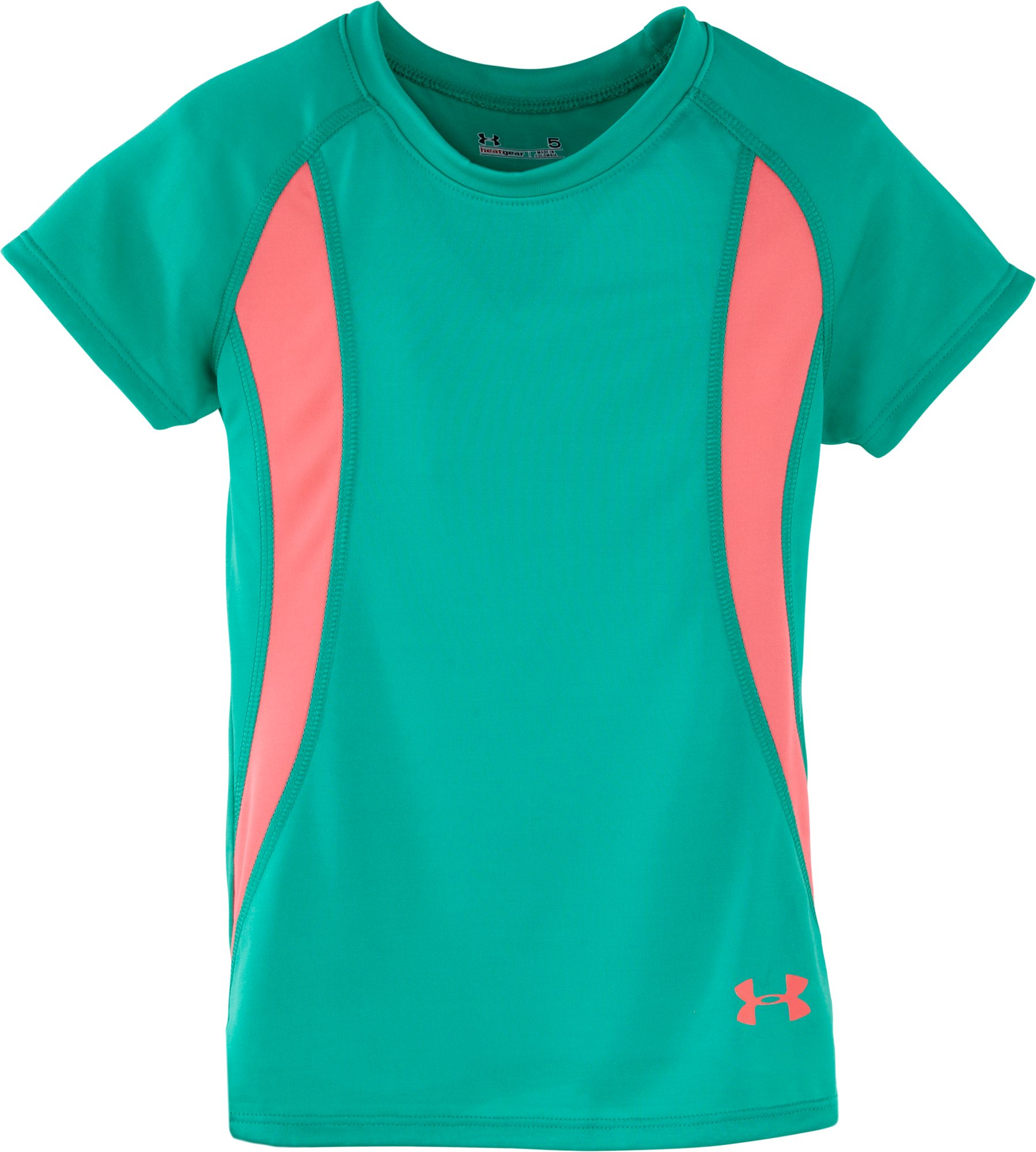 Girls' Infant UA Winner T-Shirt, EMERALD LAKE, Laydown