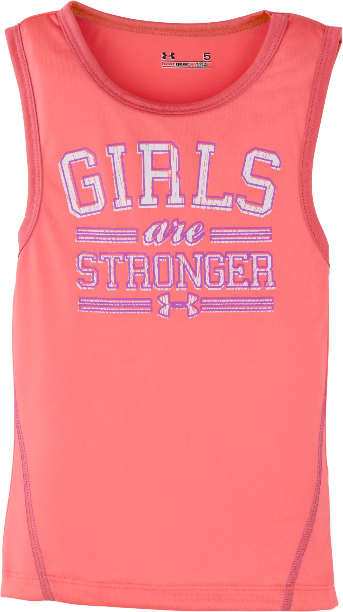 Girls' Pre-School UA Girls Are Stronger Tank, BRILLIANCE, Laydown